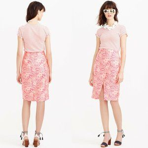 J. Crew Crossover Pencil Skirt in Plumeria HW8618